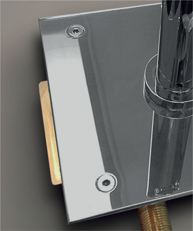 Detail of external screws